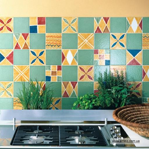 Рисунки на плитку на кухне своими руками